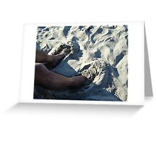 Sand Slippers Greeting Card