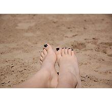 Erika at the Beach Photographic Print