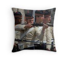 Guards at the Citadel, Halifax, Nova Scotia Throw Pillow