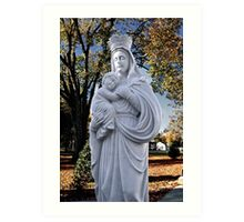 Mother Mary and Jesus Art Print
