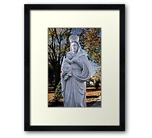 Mother Mary and Jesus Framed Print