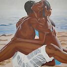 Lovers on the Beach by Wanda K. Whitaker