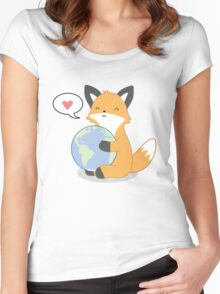 Firefox Love Women's Fitted Scoop T-Shirt