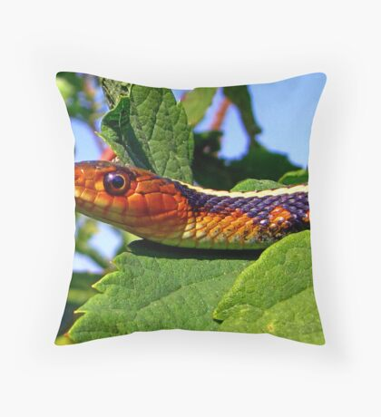 Oregon Red-spotted Garter Snake Throw Pillow