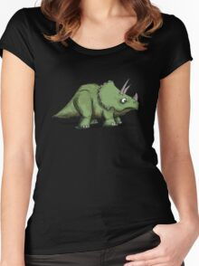 Trike - triceratops Women's Fitted Scoop T-Shirt
