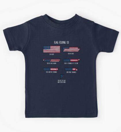 Flag Folding 101 Kids Tee