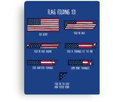 Flag Folding 101 Canvas Print