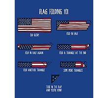 Flag Folding 101 Photographic Print