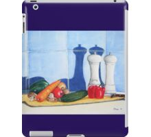 quirky still life realist art peppers and vegetables  iPad Case/Skin