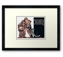 WWII Joe Dope Cartoon Framed Print