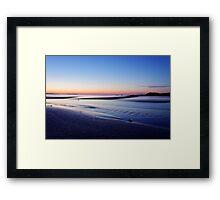 sunset of Malia Framed Print