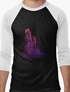 Ghost Ship Pink Men's Baseball ¾ T-Shirt