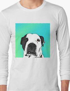 Pop Art Pitbull Long Sleeve T-Shirt