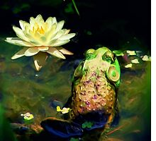 Frog & Lily Photo Painting by Darlene Lankford Honeycutt