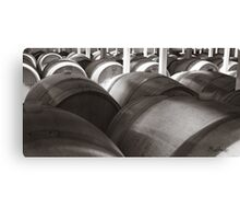 Barrels in the Vineyard Canvas Print