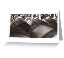 Barrels in the Vineyard Greeting Card