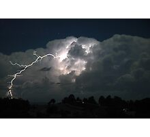 Byron Bay Lightning Jump Photographic Print