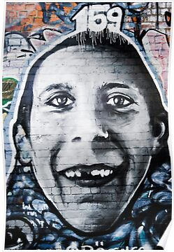 Graffiti Face of teethless boy by yurix