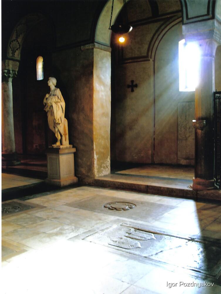 Inside of a Church in Trieste, Italy by Igor Pozdnyakov