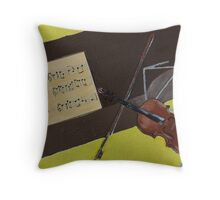 Violin and Piano Throw Pillow