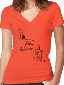Let's Dance (cable) - Footloose Women's Fitted V-Neck T-Shirt