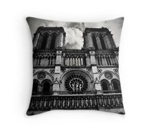 Notre Dame Cathedral, Paris, France Throw Pillow