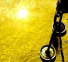 Yellow Robot Still #1 by GODofNEON