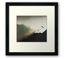 """""""explosion from a rocket launched from a US drone trying to kill innocent children in the mountains of Afghanistan"""" Framed Print"""