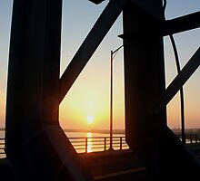 Smith Point Bridge Sunset   Shirley, New York  by © Sophie W. Smith