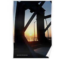Smith Point Bridge Sunset | Shirley, New York  Poster