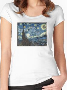 DeathStarry Night Women's Fitted Scoop T-Shirt