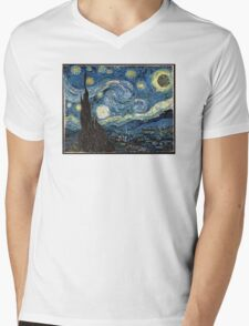 DeathStarry Night Mens V-Neck T-Shirt