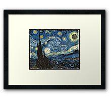 DeathStarry Night Framed Print
