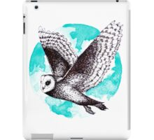 Blue Barn Owl  iPad Case/Skin