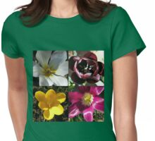 Flowering Bulbs - Four Frame Collage Womens Fitted T-Shirt