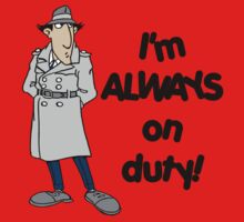 Inspector Gadget - I'm Always On Duty - Black Font Kids Tee