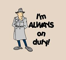 Inspector Gadget - I'm Always On Duty - Black Font T-Shirt