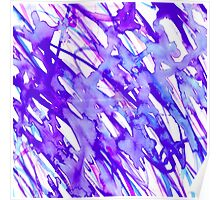 Purple and Pink Watercolor Paint Splatter Poster