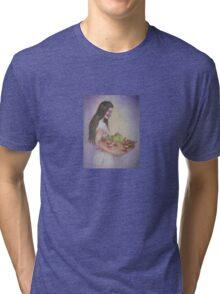 Navajo Madonna and Jalapenos Tri-blend T-Shirt