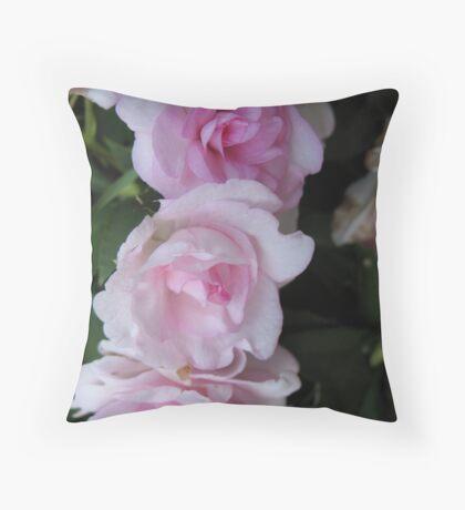 Triple Begonia Bliss Throw Pillow