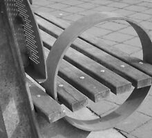 O, a bench by the harbor by ElyseFradkin