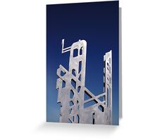 Skeleton Of A Skyscraper Greeting Card