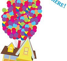 Balloon House Tee by FleurGraphics
