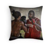 The Boxing Coach Throw Pillow
