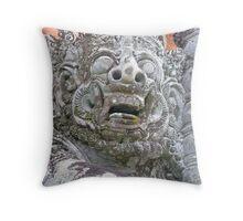 Balinese Temple Guardian Throw Pillow