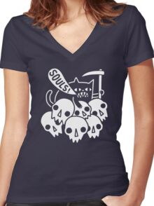 Cat Got Your Soul? Women's Fitted V-Neck T-Shirt