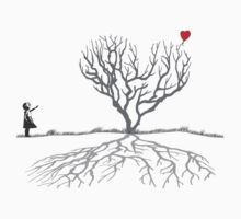 Banksy Heart Tree Shirt by Pinhead Industries