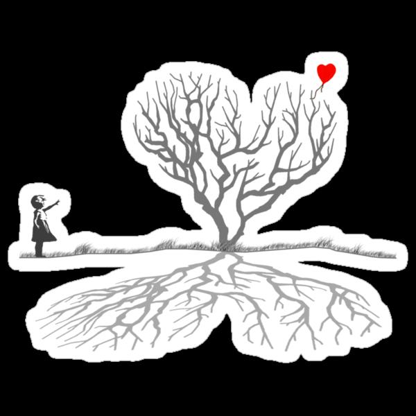 Banksy Heart Tree Shirt by Pinhead Industries