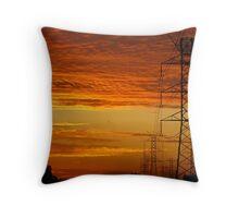 Fire Power Throw Pillow