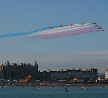 weymouth carnival Red Arrows by mark connell